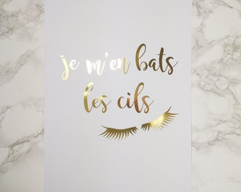 Foil Poster - French Quote