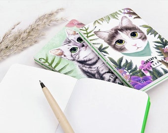 Cat Notebook, Thick Size, Unique Binding, Blank Pages, Beautiful Stationary Gift