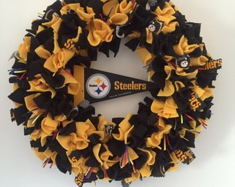 steelers wreath | etsy