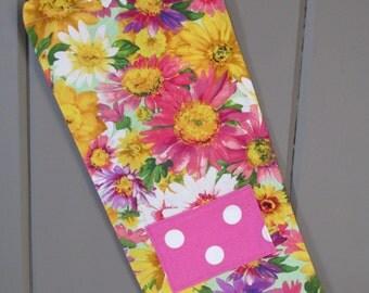 Flower print wine bag