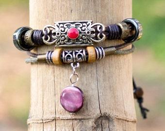 Bohemian Bracelet // Tribal Bracelet // Boho Bracelet // Hippie Jewelry // Hippie Bracelet // Gypsy Bracelet // Leather Bracelet