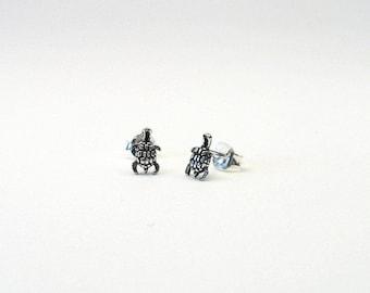 Turtle earrings 925 Silver turtle earring earrings