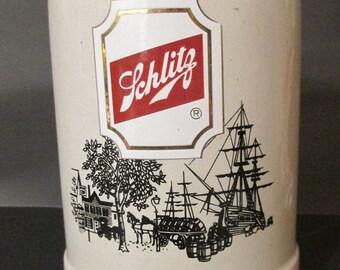 Beer  Stein / Mug / SCHLITZ  Stein --GERZ  --0.5 L.  /Breweriana./ Stein Tankard / Barware / Collector's Stein / Beer Mug /  Dad  Gift
