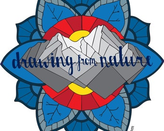 Drawing From Nature Sticker