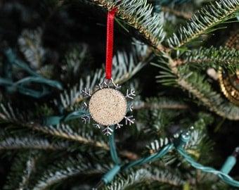 Sand Ornament - Beach Ornament -  Snowflake Ornament - Christmas Gift Ideas - Unique Ornaments - Christmas Ornament
