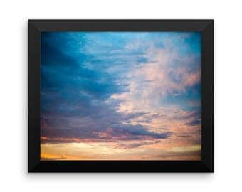 Cloudy Skies | Nature Photography | Instant Download | 8x10 Photo Print | Sky | Clouds | Gallery Wall Art | Wall Decor | Bright | Sunset