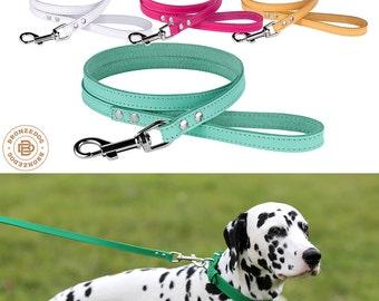 Dog Leash, Leather Dog Leash Lead, 4 foot Dog Leash