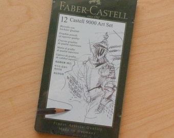 12 Graphite Faber Castell Art Set Pencils