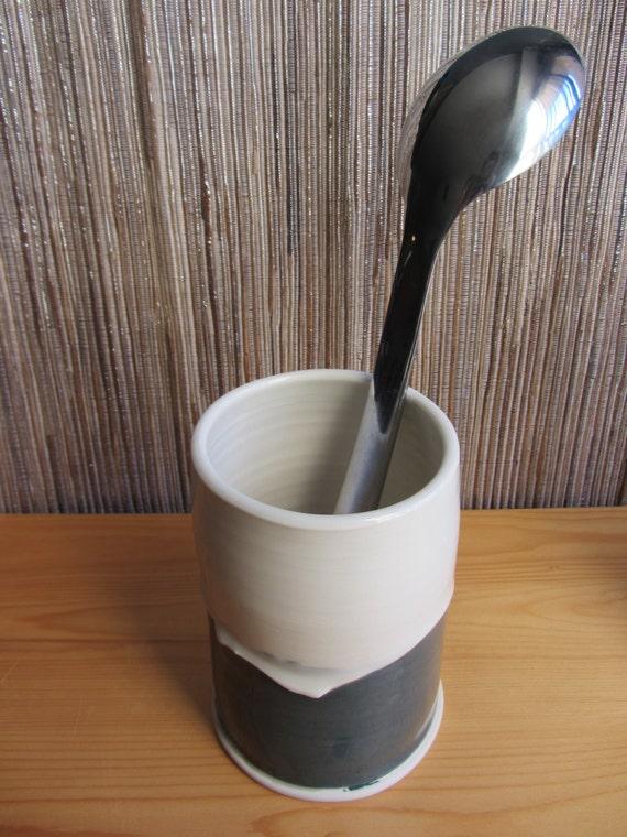 Pottery kitchen utensil holder porcelain kitchen by haberpots - Unique kitchen utensil holder ...
