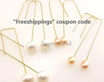 Newest 30 PCS of 51*13mm square earring component can fix with bead and pearl (AG130)