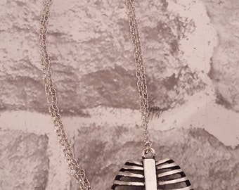 Rib Cage Pendant, Anatomical Rib Cage, Rib Cage, Charm Necklace, Pendant, Necklace, Jewellery, Anatomy, Medical Science, Curiosity.