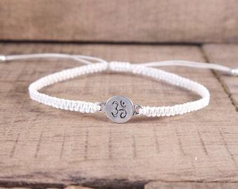 Ohm Om Bracelet, Buddhist Jewelry, Yoga jewelry, yoga bracelet, mens bracelet,  hippie bracelet, bohemian jewelry, hippie jewelry, spiritual