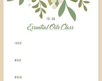 Essential Oils Class Invitation