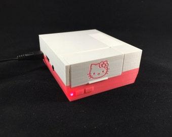 Raspberry Pi Case Hello Kitty Nintendo NES Case with Pink LED - Hello Kitty Theme - 2B or Pi 3