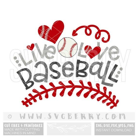 Live Love Baseball Svg Baseball Shirt Cap Hat Tee Wreath