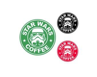 STARWARS- STARBUCKS Spoof STORMTROOPER Coffee Quality Vinyl Decal, Coffee, Yeti, Car, Laptop, Gift, Star Wars