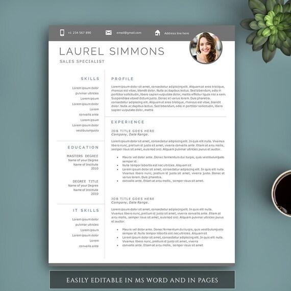 Plantilla de curriculum vitae creativa para Word y páginas