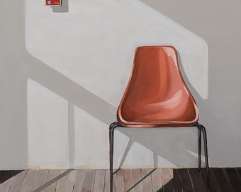 Mid century chair in the morning op. 1