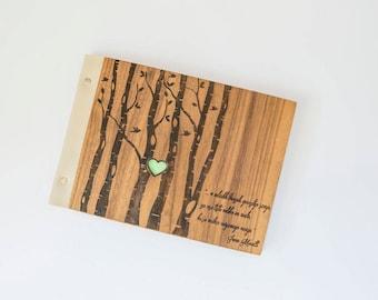 Personalized wooden photo album / wood album / wooden book / baby's first album / wooden guest book / wooden wedding album