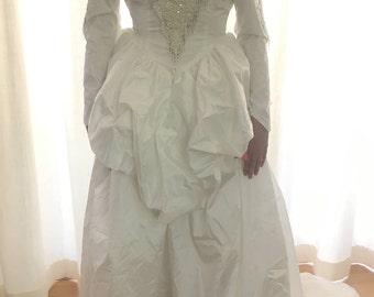 80s Vintage Wedding Dress