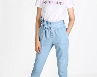 Jeans size high Modern Hanbok