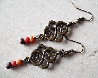 Loops saffron rocaille earrings Bohemia, bobo, ethnic, gypsy