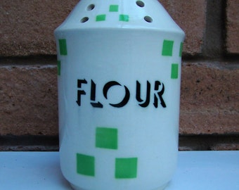 T G Green CHECKERS Flour Shaker/Sifter Church Gresley c1930s