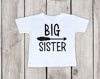 Big Sister Shirt Toddler, Big Sister Shirt for toddler girl, big sister shirt, shirt for big sister, shirt for big sister