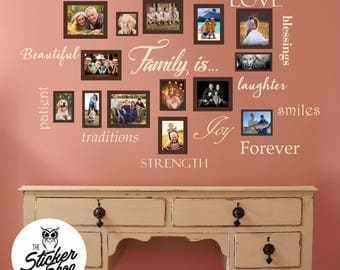 Family Photo Wall Decals