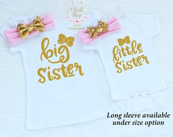 Big Sister Outfit, Big Sister Little Sister Outfits, Matching Sister Outfits, Little Sister Outfit, Big Sister Shirt, Sibling Outfits, FS22