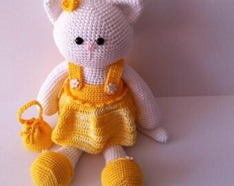 Amigurumi Cat, Crochet Cat, Yarn Cat, Amigurumi Kitty, Stuffed cat