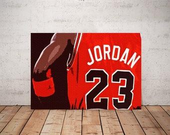 Michael Jordan, Chicago Bulls Legend Art, Print or Canvas, Basketball Fan Wall Decor, Cool Michael Jordan Picture, Chicago Sports Team Gift