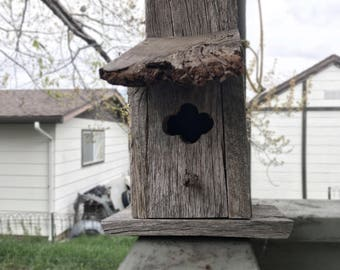 Reclaimed Wood Birdhouse, Rustic Birdhouse, Handmade Outdoor Birdhouse, Primitive Country Decor, Eco Friendly Birdhouse, Bird Enthusiast