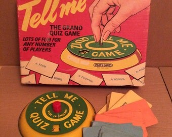 Tell Me retro quiz game from Spears, educational vintage game