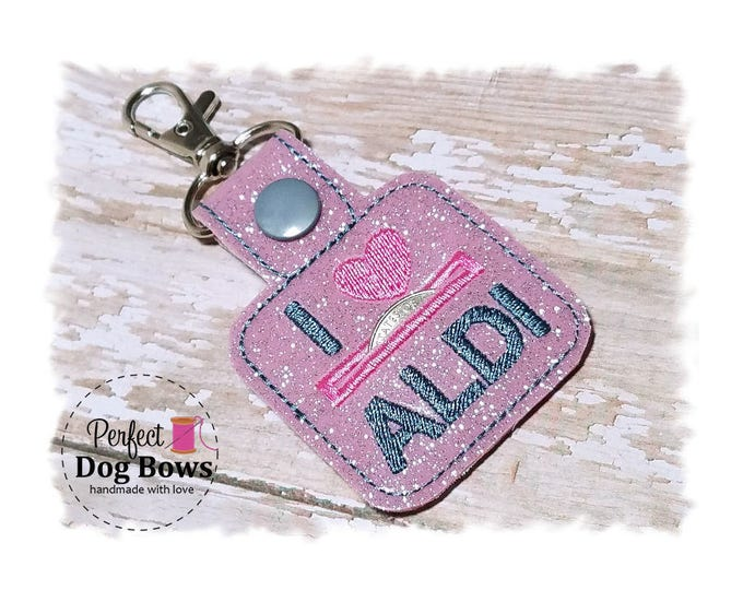 Quarter Keeper, Pink Coin Holder, Quarter Holder, I heart Key Fob, Coin Keeper Gifts, Gifts for Girls, Pink Quarter Keeper