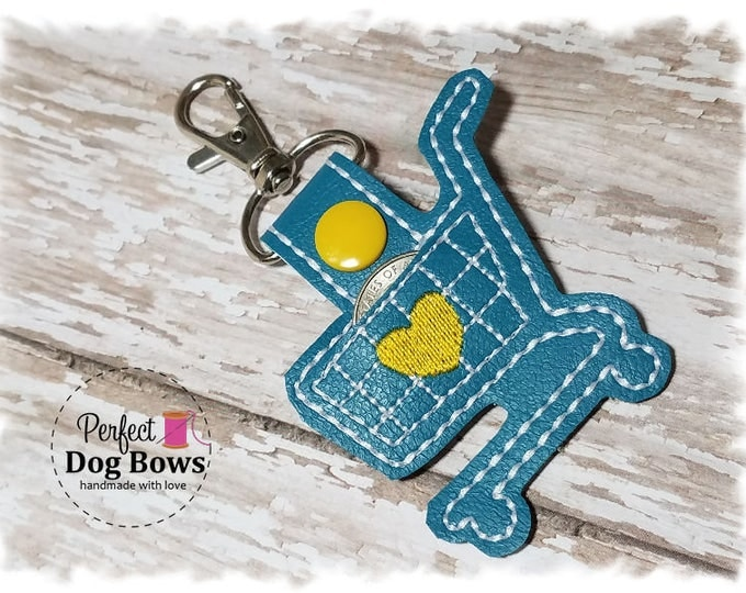 Quarter Keeper Key Fob, Quarter Keeper Keychain, Gifts for Her, Shopping Cart Keychain,  Shopping Cart Key Fob, Turquoise Shopping Cart