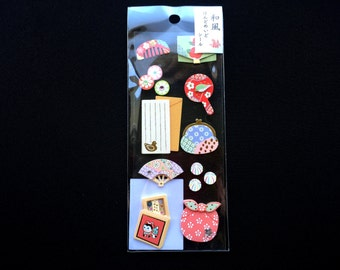 Japanese Style Craft Stickers - Women's Items - Hair Decorations - Bags - Fans - Traditional Japanese Stickers  S45