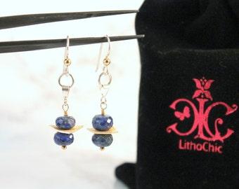 Lapis Lazuli Gemstone Drop Earrings