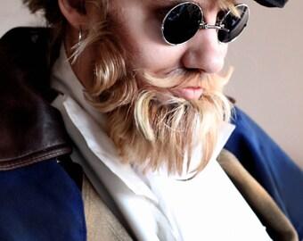 Silver Mens Steampunk Sunglasses , Black Sunglasses, Retro Sunglasses , Round Sunglasses , Steampunk Sunglasses , Sunglasses