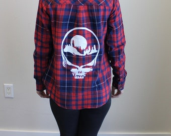 Small Mountain Mama Stealie Flannel