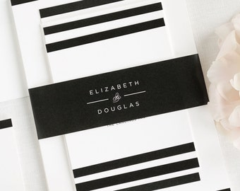 Modern Glamour Wedding Invitations - Deposit