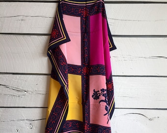Vintage 1980s EMANUEL UNGARO silk scarf • vintage silk scarf • 80s scarf