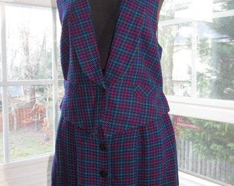 Purple Cool Hue Vest and Skirt Suite, Doncaster