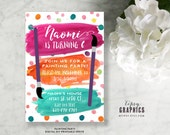 Painting Party. Paint Watercolor Art Birthday Printable Invitation By Tipsy Graphics