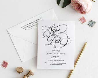 Editable Template - Instant Download Musical Save the Date Invitation