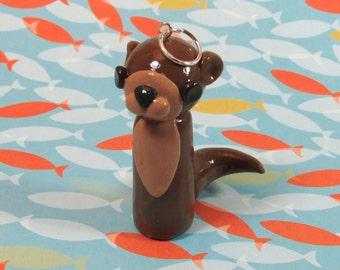 Otter Figure, River Animals, Animal Figures, River Otter, Handmade, Polymer Clay, Handmade Otter, Otter Figurine, Sea Otter, Otter Ornament