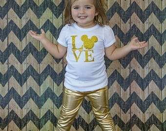 Girl Shiny Gold Leggings - Baby Girl Gold Leggings - Girl Gold Leggings - Gold Pants - Shiny Gold Pants - Birthday Leggings 18m 2T 3T