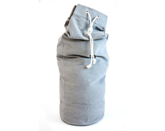 sailor bag - bean bag - laundry bag made of gray twill