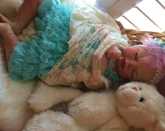 From The Precious Gift Kit Reborn Baby Girl Cora Doll 19 inch kit Completed Doll with Magnetic Pacifier