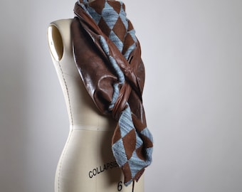 OOAK Leather Scarf - Big Leather Scarf - Leather Scarf - Women's Scarves - Leather Accessories